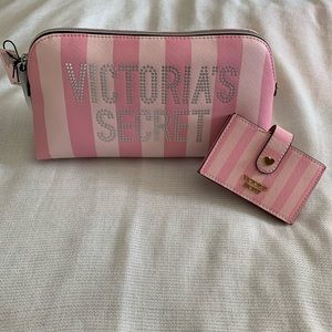 Victoria's Secret cosmetic bag & creditcard holder